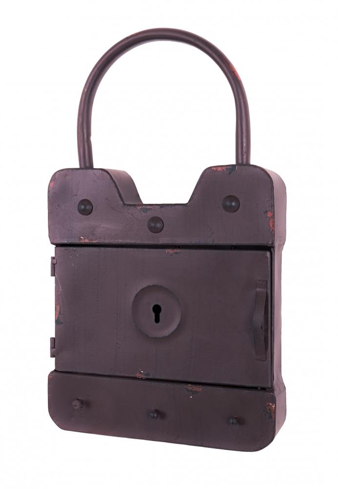 Skříňka na klíče Sante, 43 cm, hnědá
