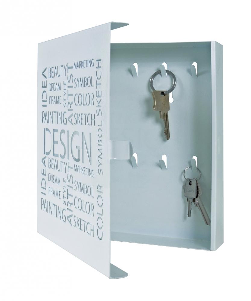 Skříňka na klíče Sola, 24 cm, bílá