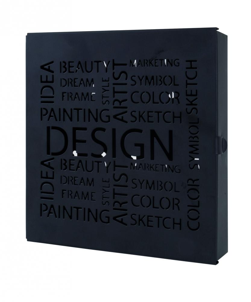 Skříňka na klíče Sola, 24 cm, černá