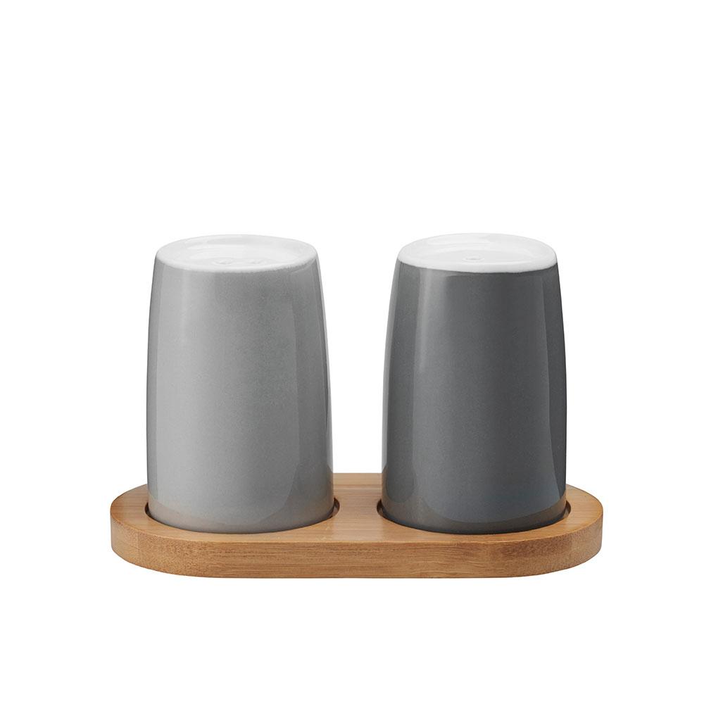 Slánka a pepřenka Emma, 9 cm, 2 ks, šedá