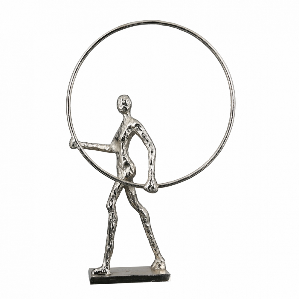 Socha Gym, 55 cm, stříbrná