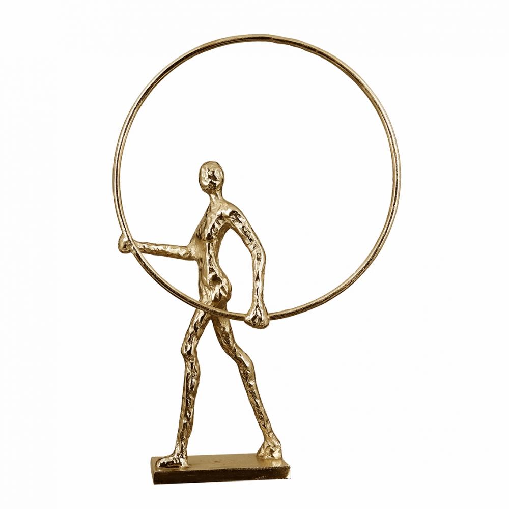 Socha Gym, 55 cm, zlatá
