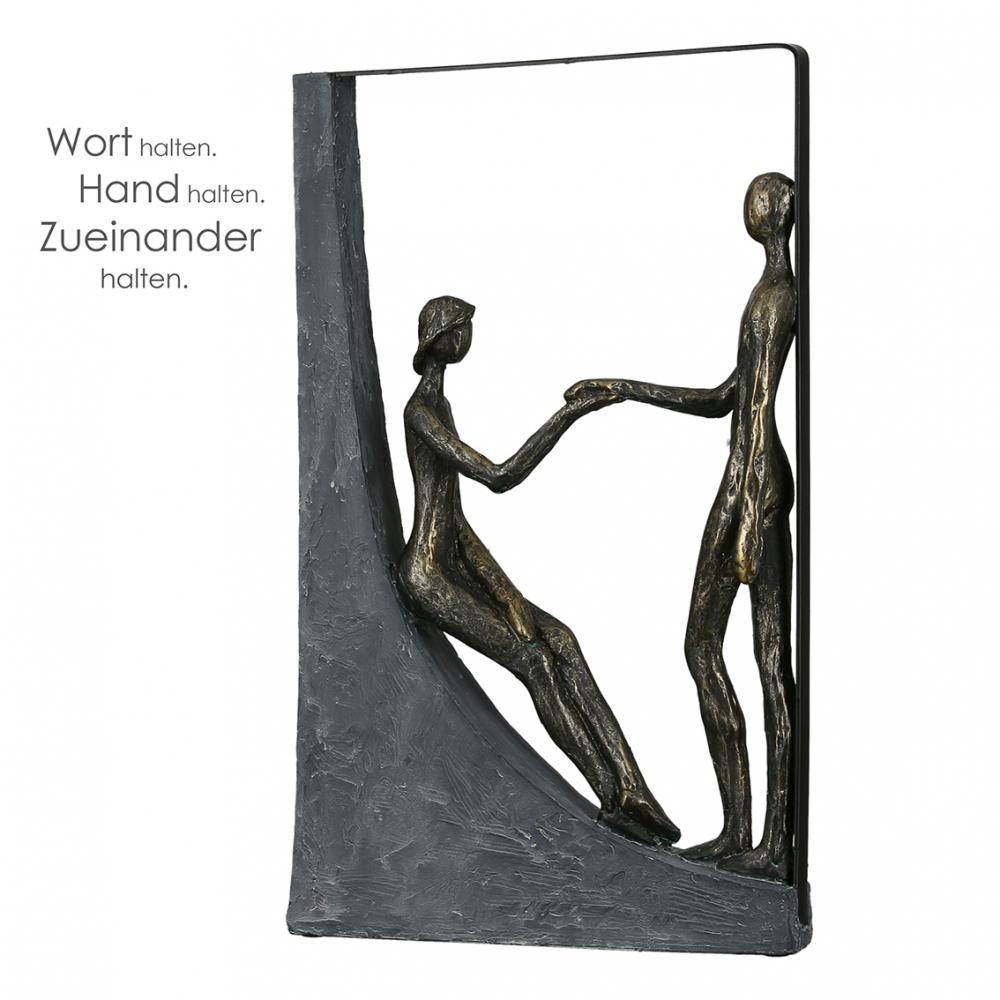 Socha Hands, 37 cm, bronzová