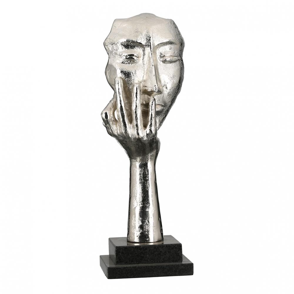 Socha Quin, 56 cm, stříbrná
