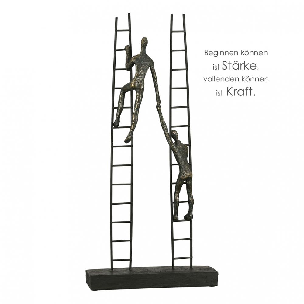 Socha Rise, 43 cm, bronzová / černá