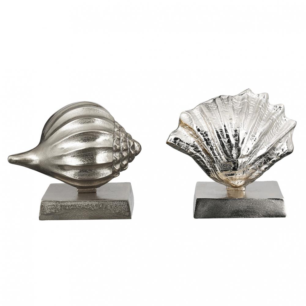 Socha Shell (SET 2 ks), 19 cm, stříbrná