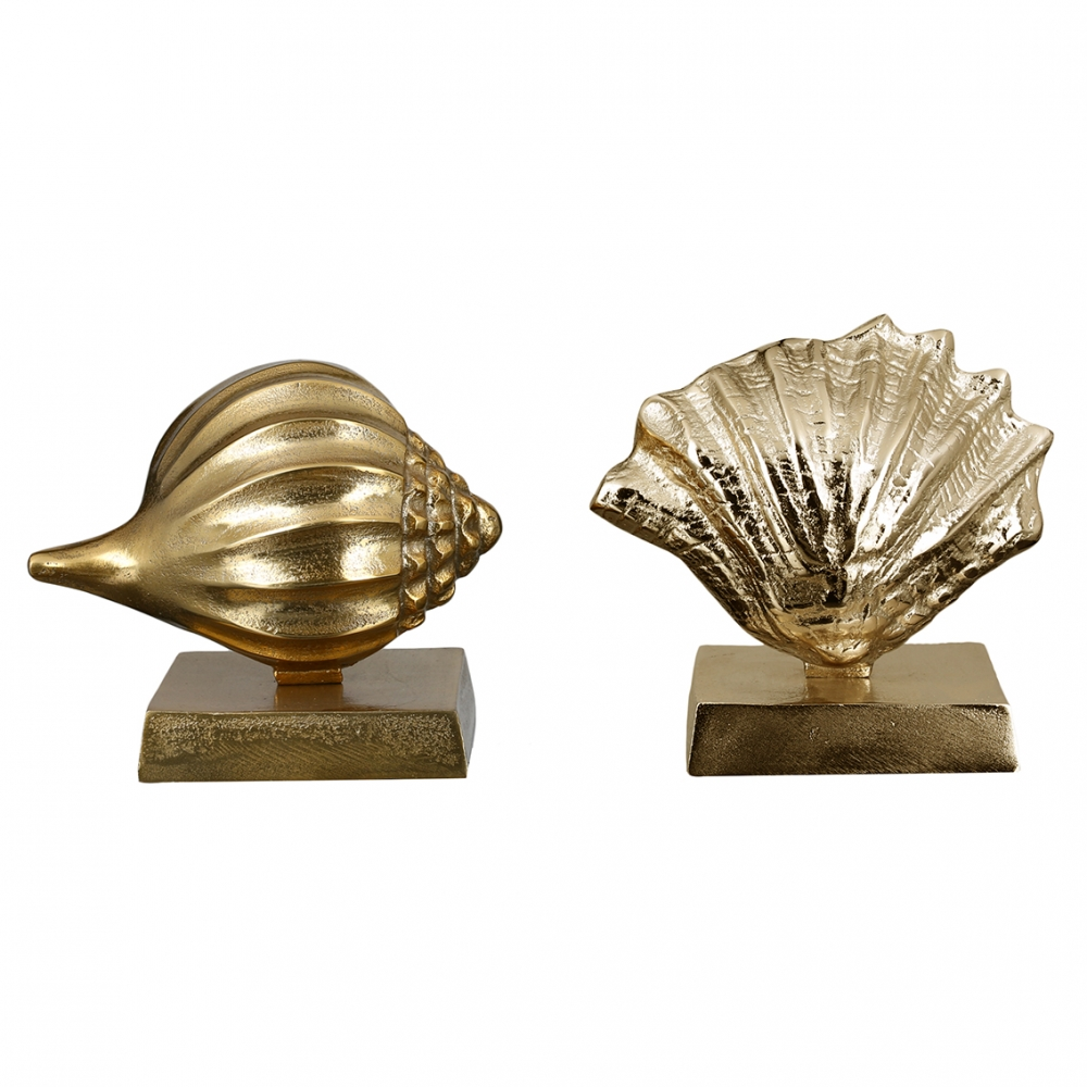 Socha Shell (SET 2 ks), 19 cm, zlatá