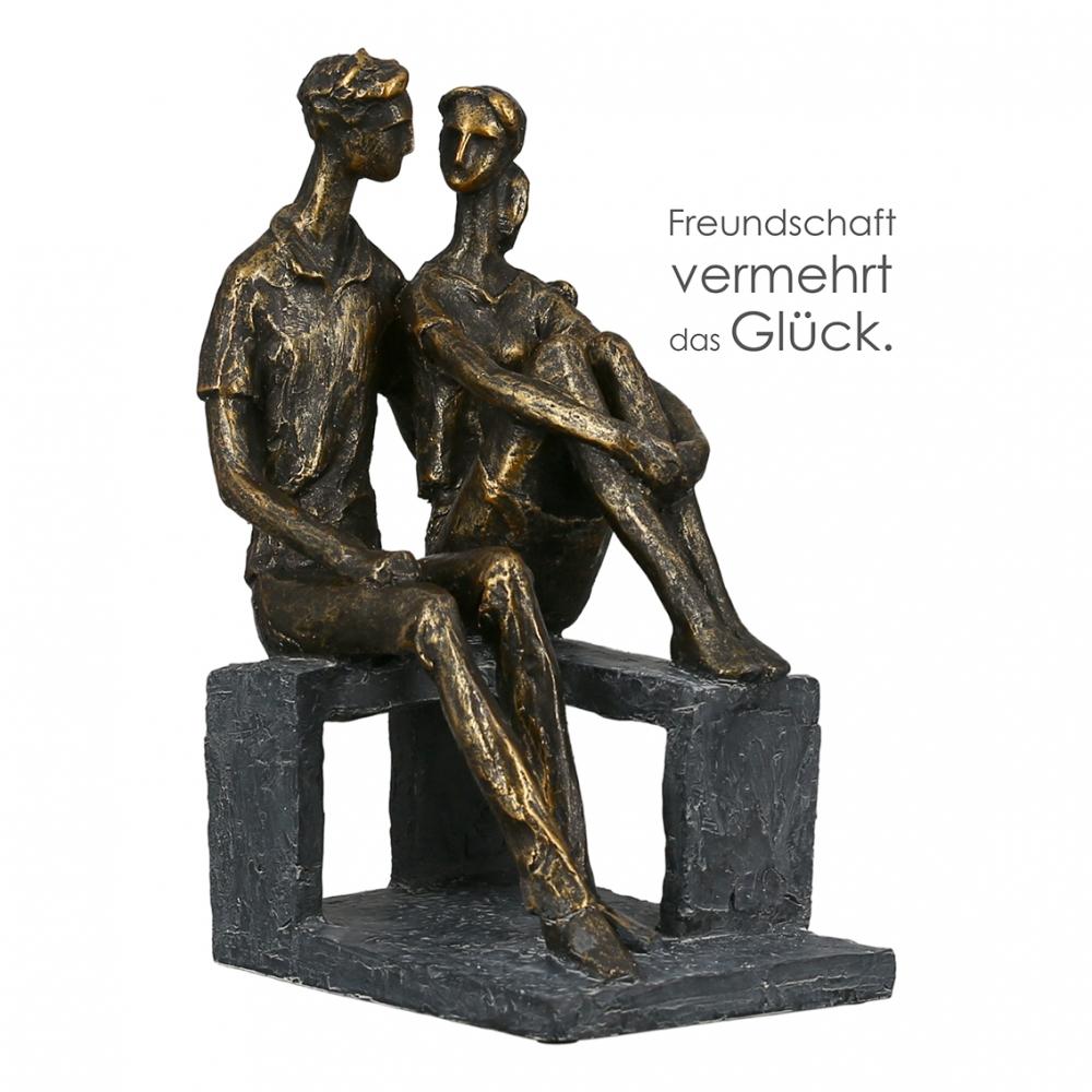 Socha Talk, 24 cm, bronzová