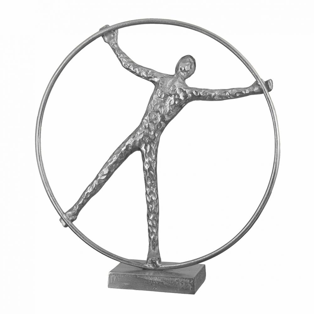 Socha Wheel, 41 cm, stříbrná