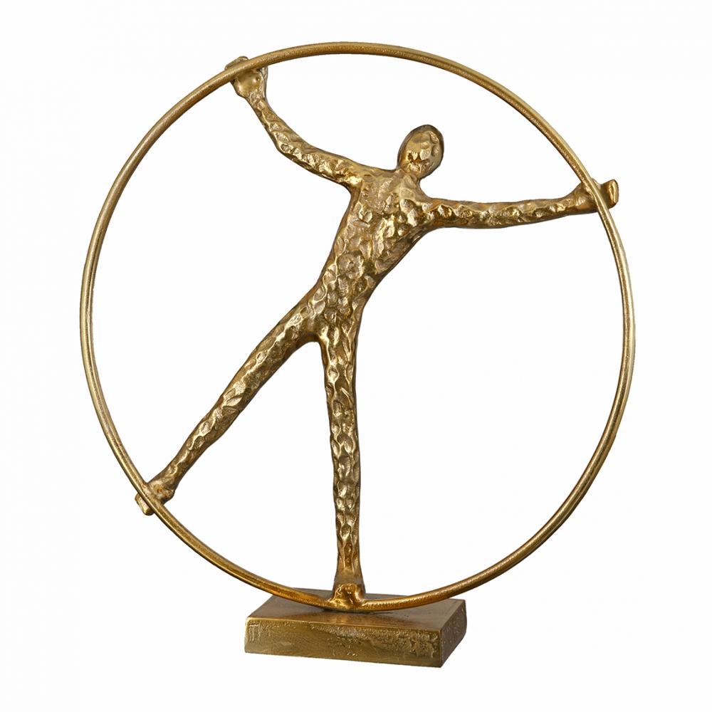 Socha Wheel, 41 cm, zlatá