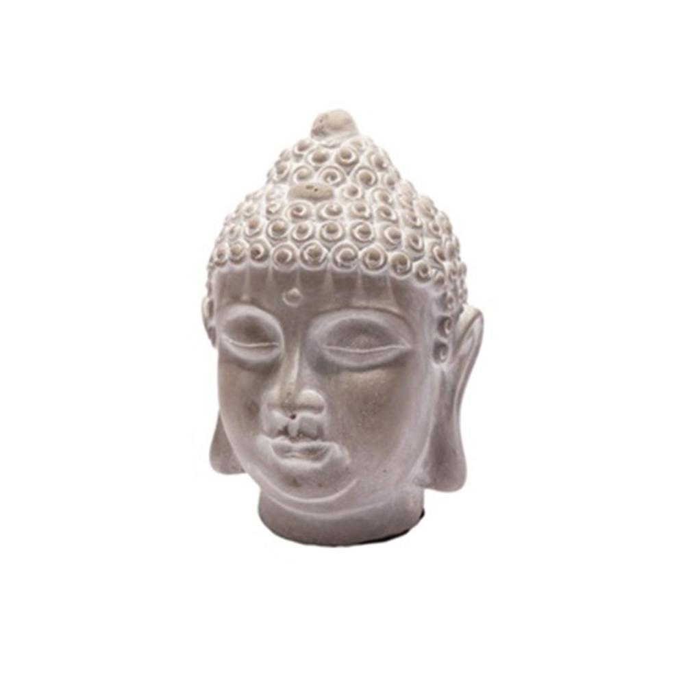 Soška Buddha hlava, 16 cm, beton
