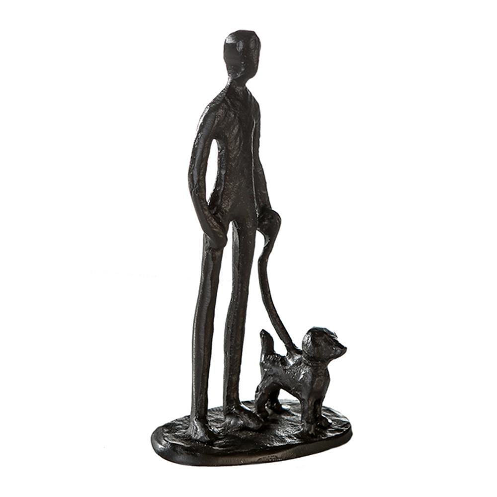 Soška Muž se psem, 15 cm