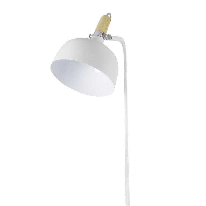 Stojací lampa kovová Acky, 160 cm, bílá