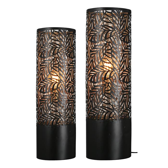 Stojací lampa Nat, 63 cm, černá / zlatá