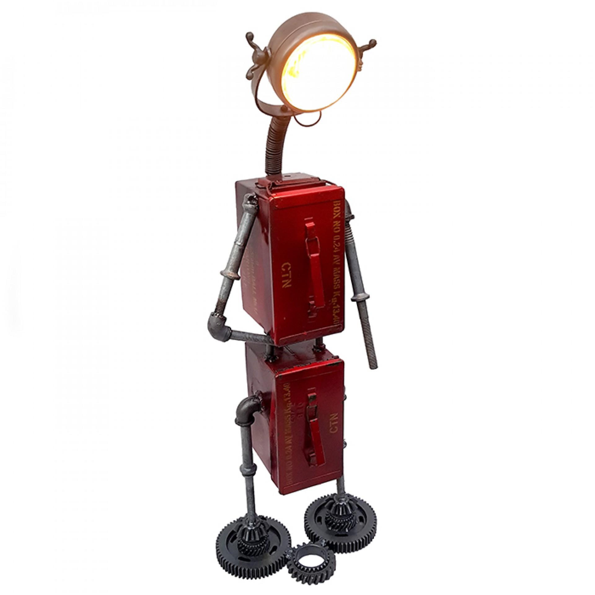 Stojací lampa Robot, 119 cm, červená