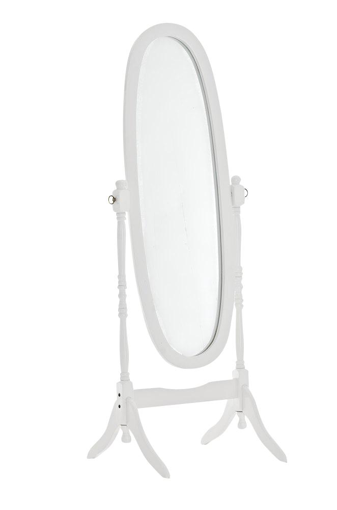 Stojací zrcadlo Cora, 150 cm, bílá