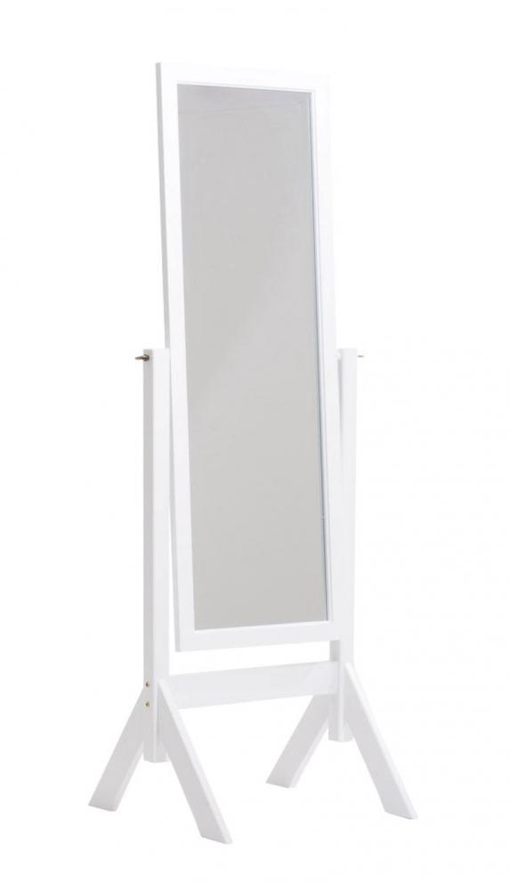 Stojací zrcadlo Elvis, 153 cm, bílá