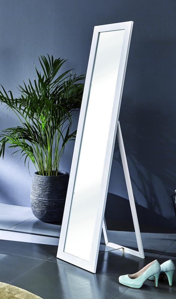 Stojací zrcadlo Megan, 156 cm, bílá
