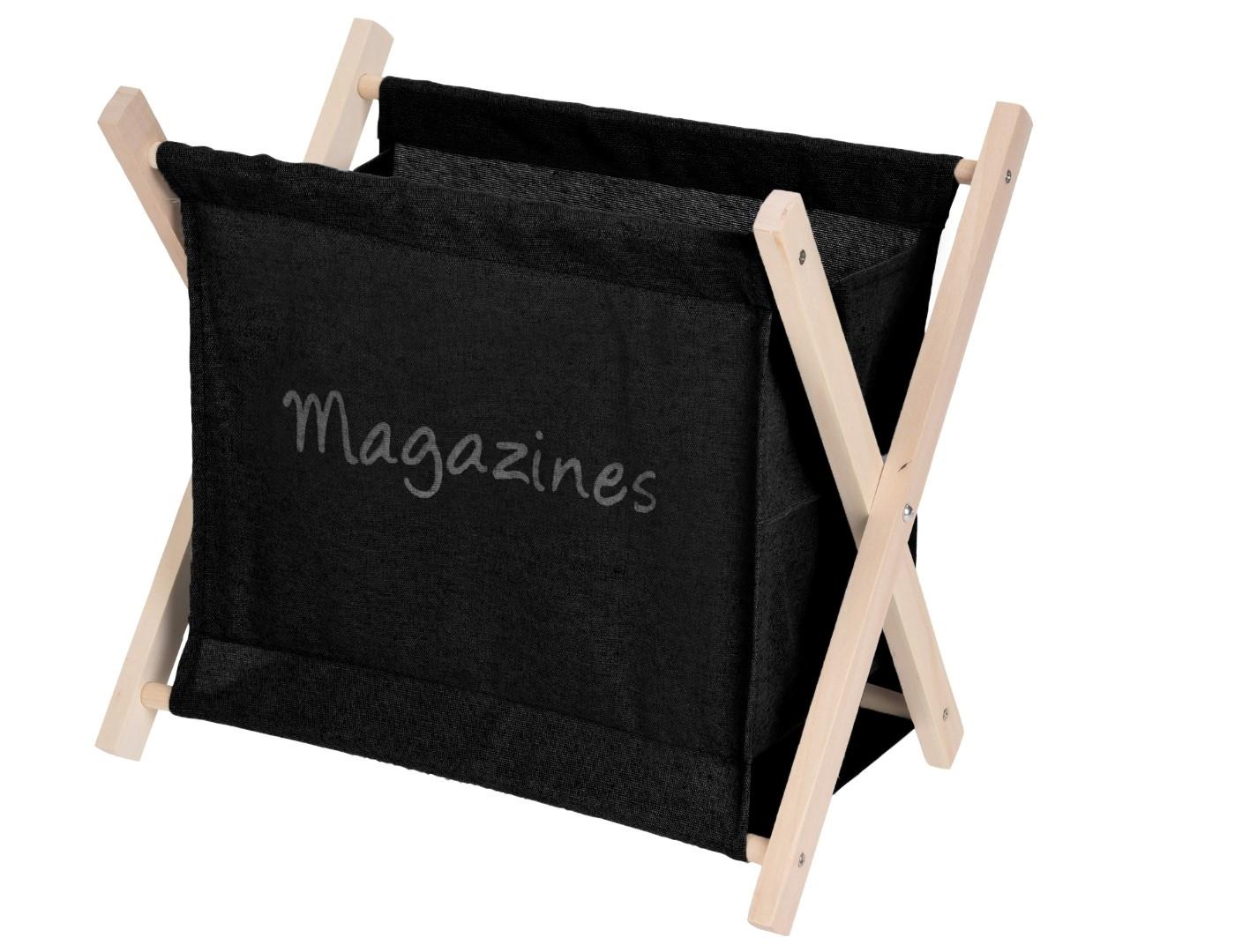 Stojan na časopisy Rydde, černá