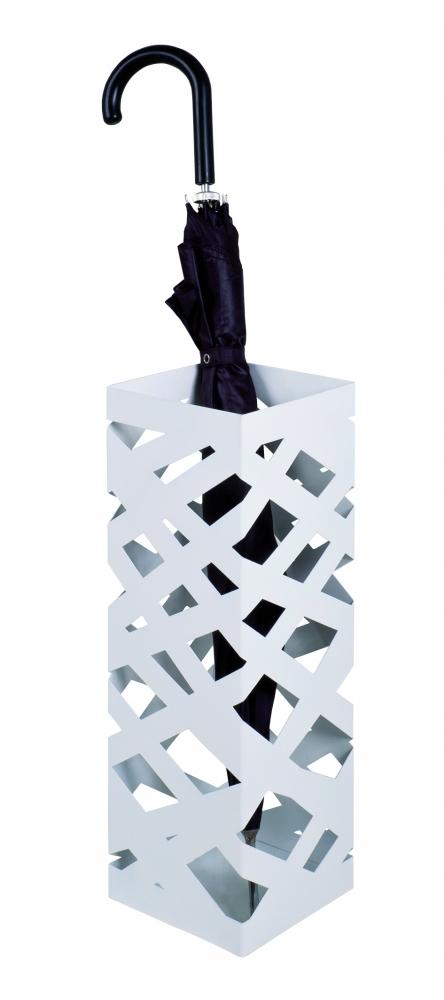 Stojan na deštníky Dieg, 48 cm, bílá