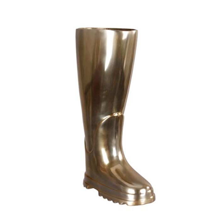 Stojan na deštníky hliníkový Boot, 44 cm, mosazná