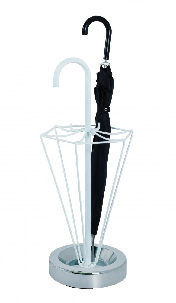 Stojan na deštníky Humbrel, 75 cm, bílá / chrom