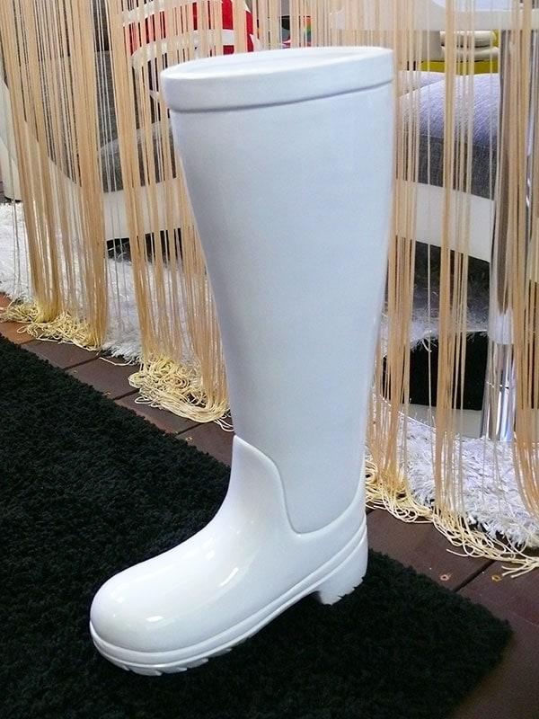 Stojan na deštníky keramický Holínka bílá