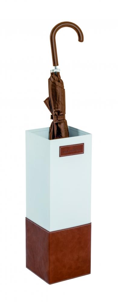 Stojan na deštníky Nelsen, 48 cm, bílá