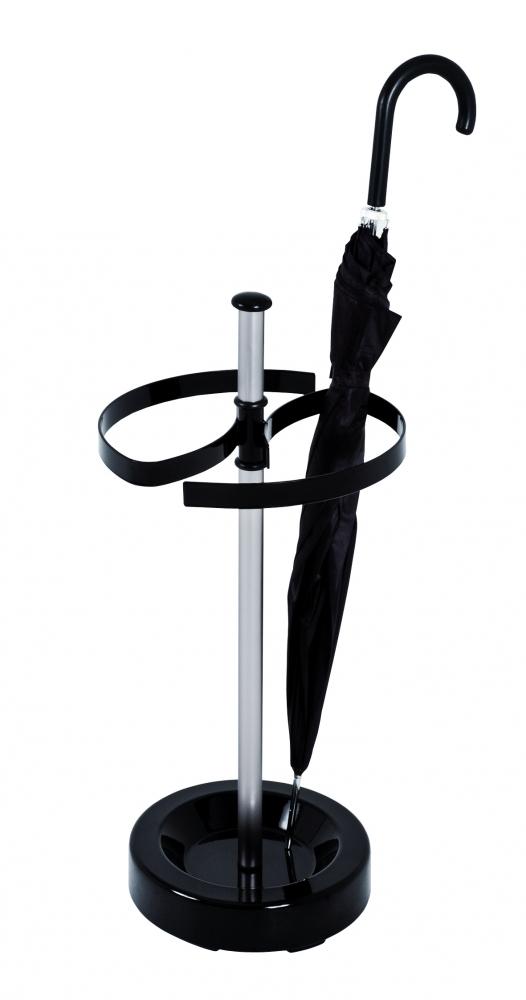 Stojan na deštníky Ramo, 65 cm, černá