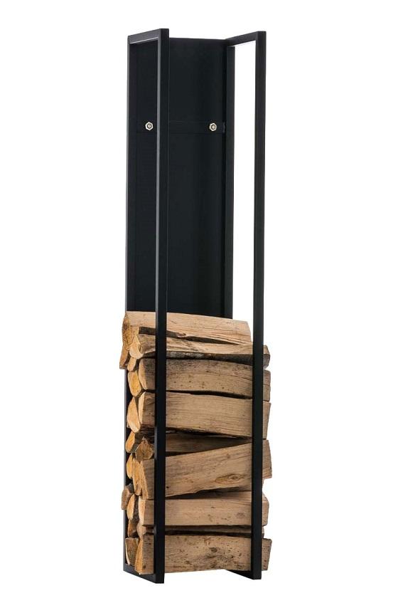 Stojan na dřevo Gnister, 100 cm, matná černá
