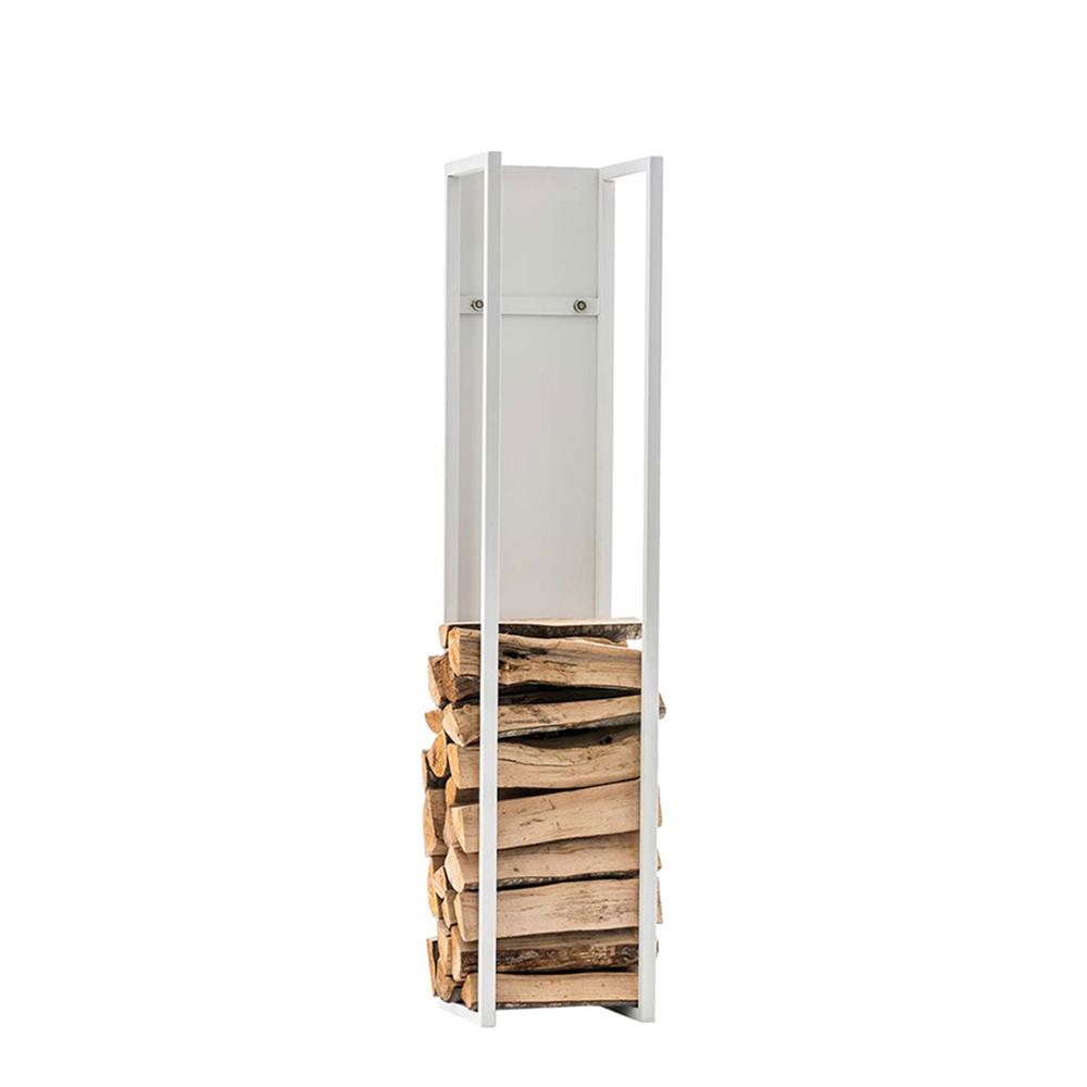 Stojan na dřevo Gnister, 120 cm, matná bílá