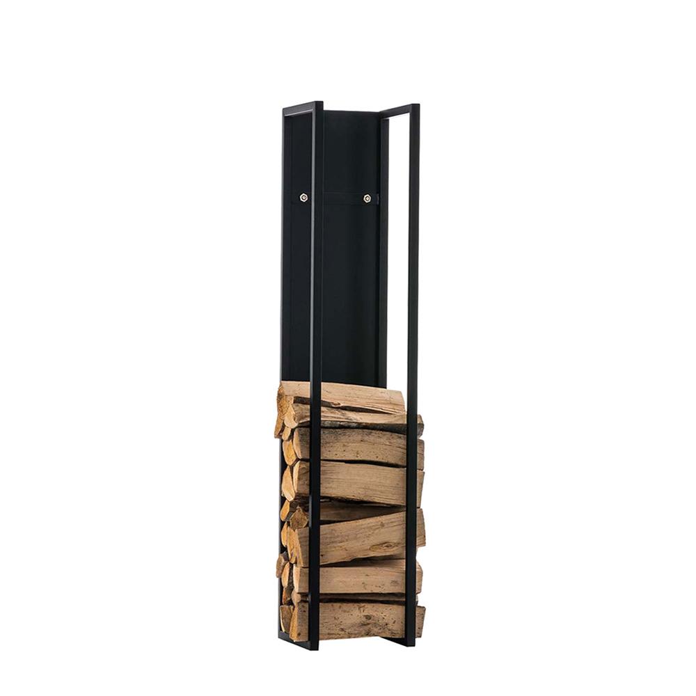 Stojan na dřevo Gnister, 120 cm, matná černá