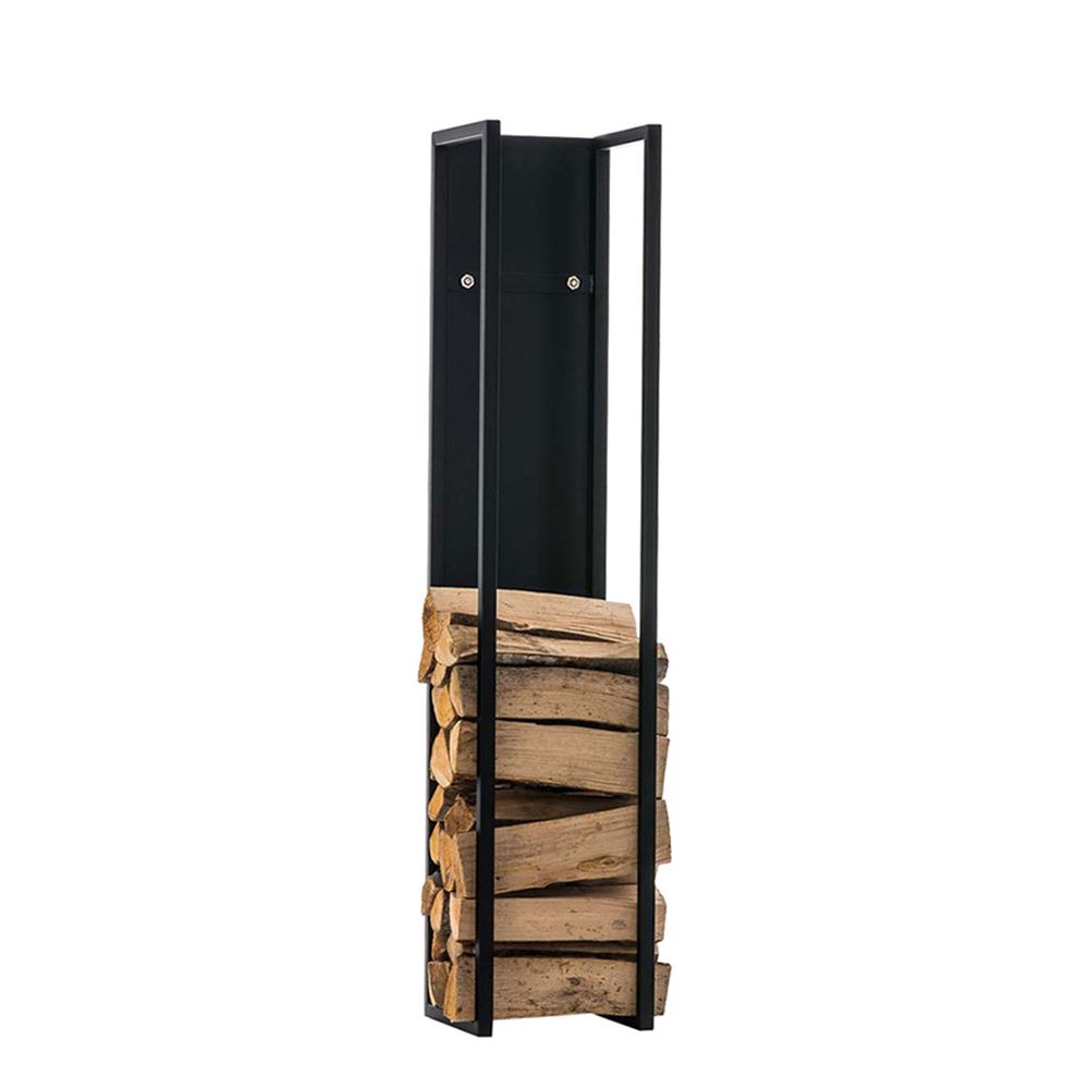 Stojan na dřevo Gnister, 140 cm, matná černá