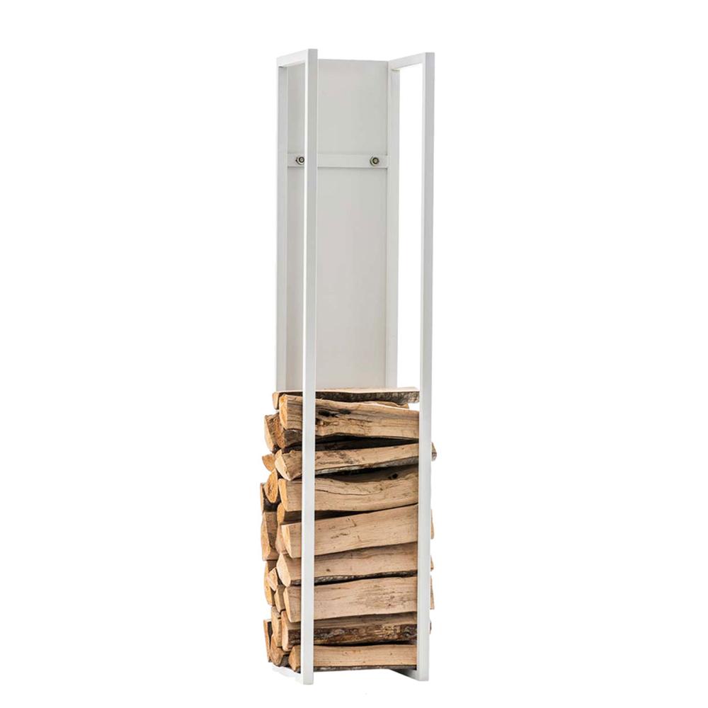 Stojan na dřevo Gnister, 160 cm, matná bílá