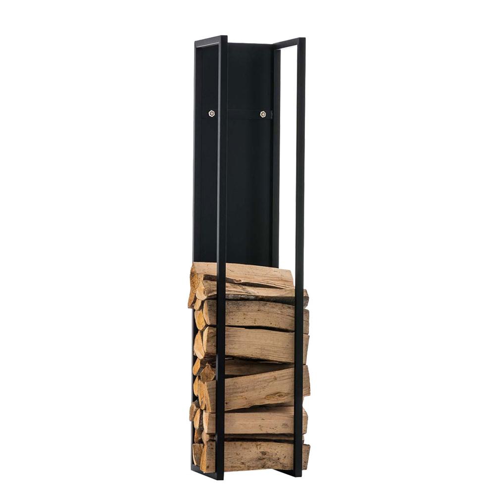 Stojan na dřevo Gnister, 160 cm, matná černá
