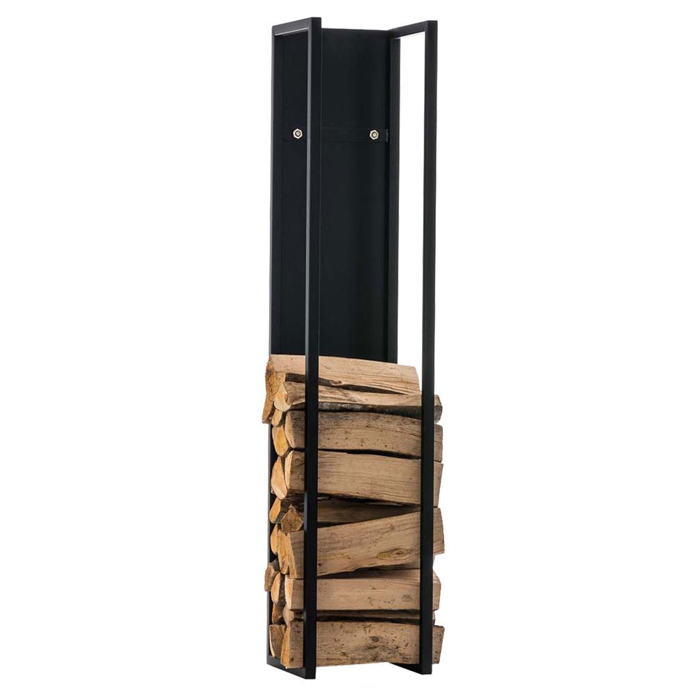 Stojan na dřevo Gnister, 180 cm, matná černá