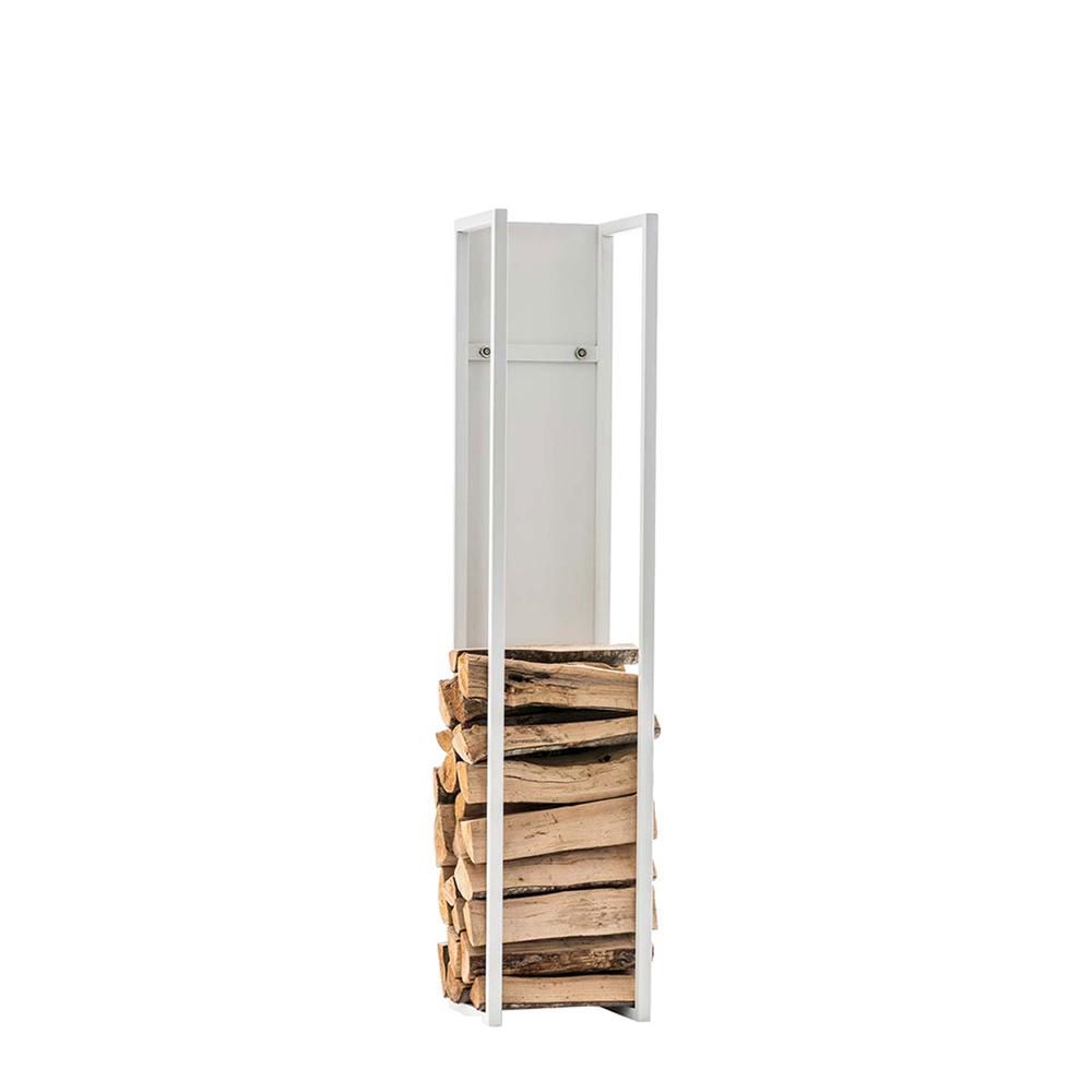 Stojan na dřevo Gnister, 80 cm, matná bílá