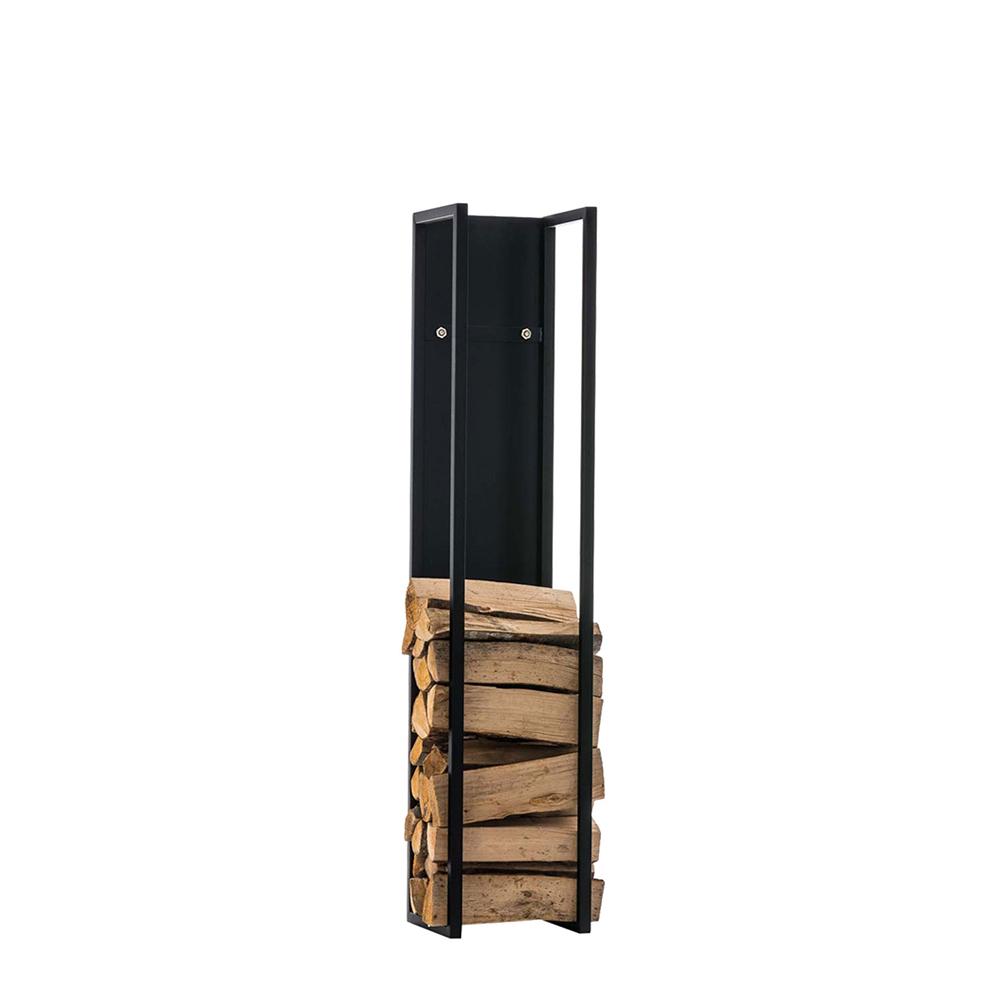 Stojan na dřevo Gnister, 80 cm, matná černá