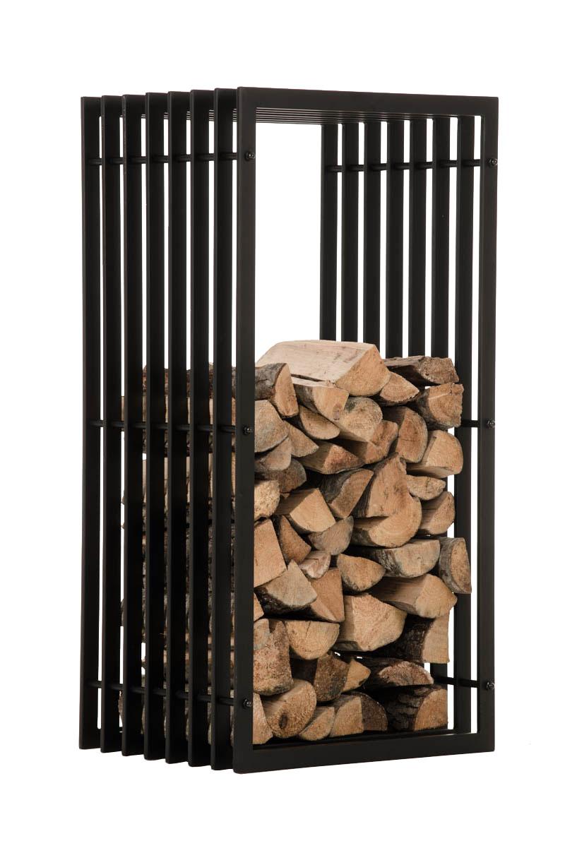 Stojan na dřevo John, 100 cm, matná černá