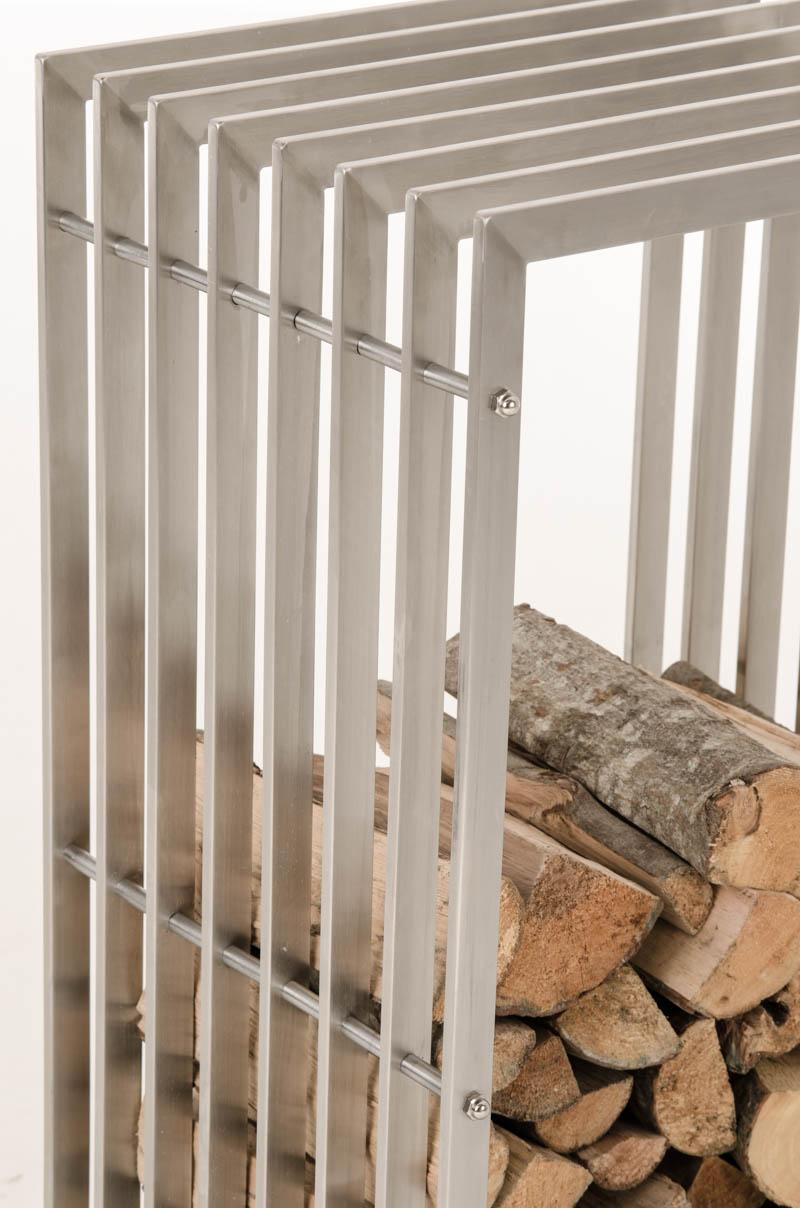 Stojan na dřevo John, 100 cm, nerez