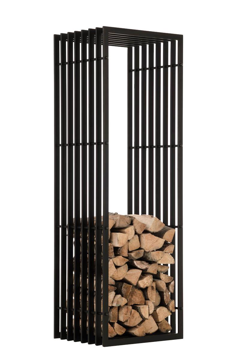 Stojan na dřevo John, 150 cm, matná černá