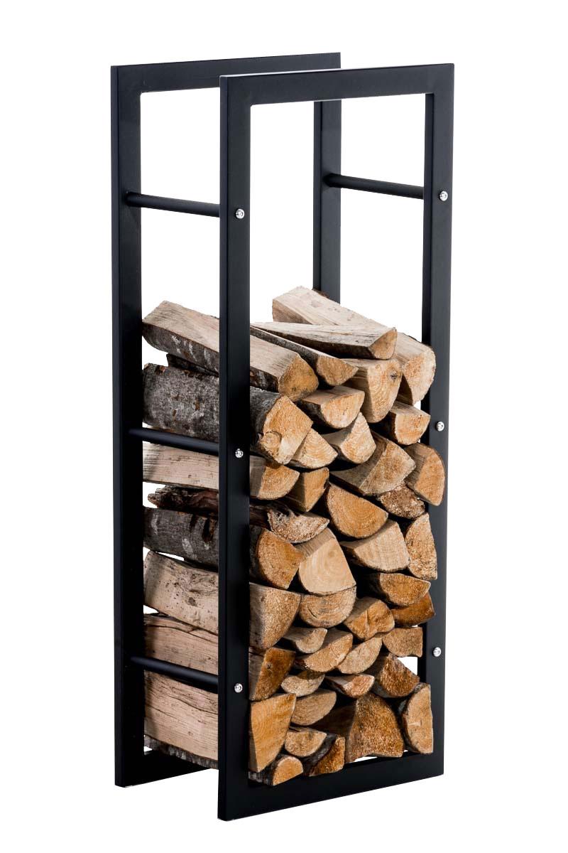 Stojan na dřevo Karin, 40x100 cm, černá