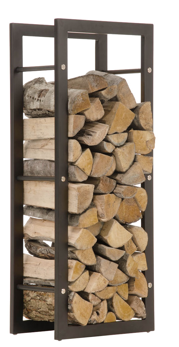 Stojan na dřevo Karin, 40x100 cm, matná černá
