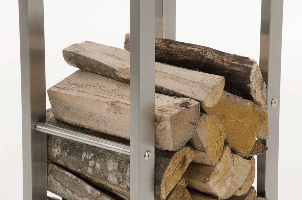 Stojan na dřevo Karin, 40x100 cm, nerez