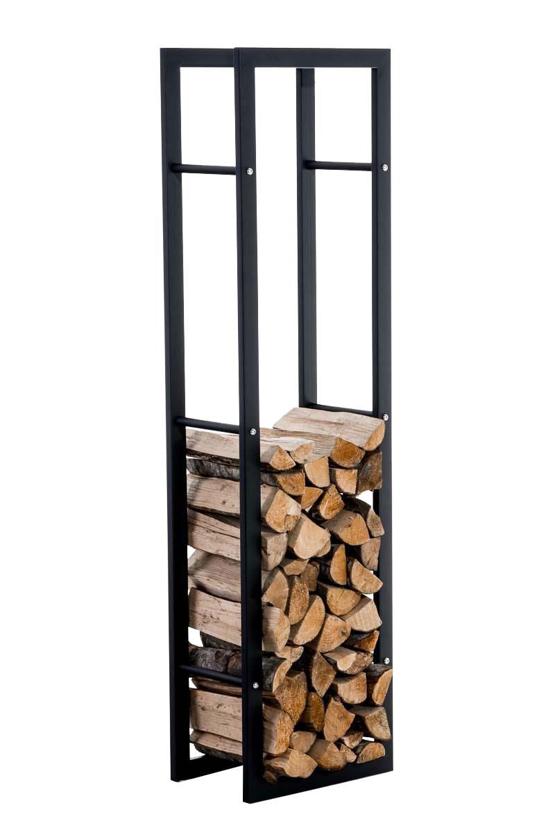 Stojan na dřevo Karin, 40x150 cm, černá