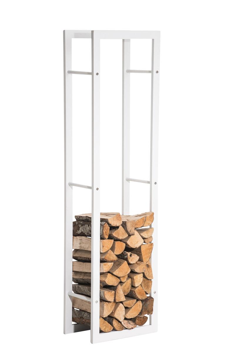 Stojan na dřevo Karin, 40x150 cm, matná bílá