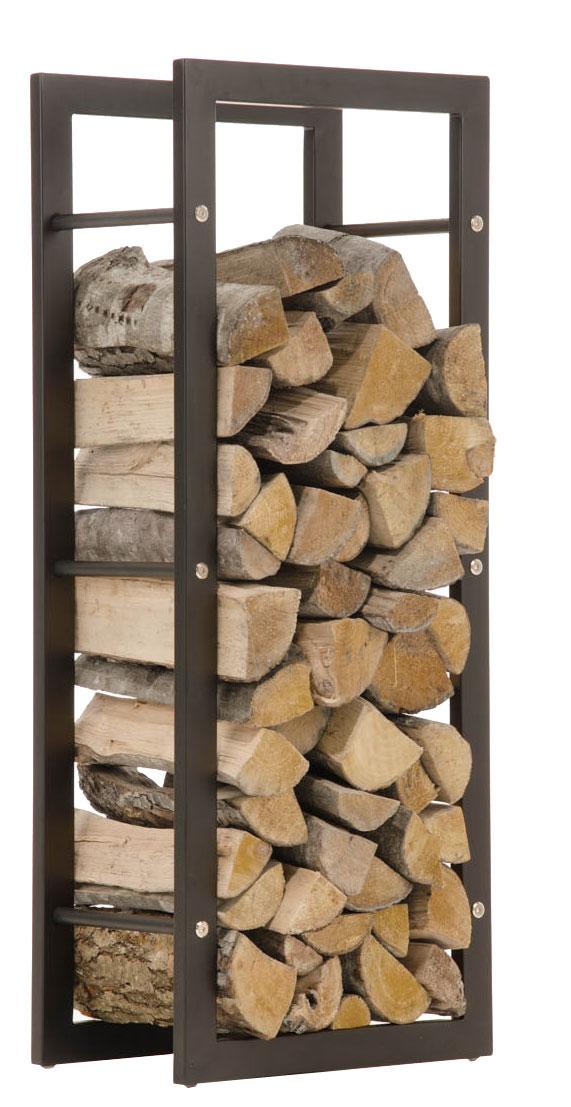 Stojan na dřevo Karin, 40x150 cm, matná černá