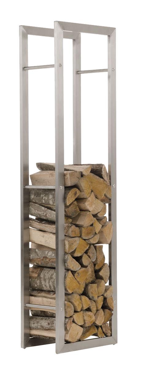 Stojan na dřevo Karin, 40x150 cm, nerez