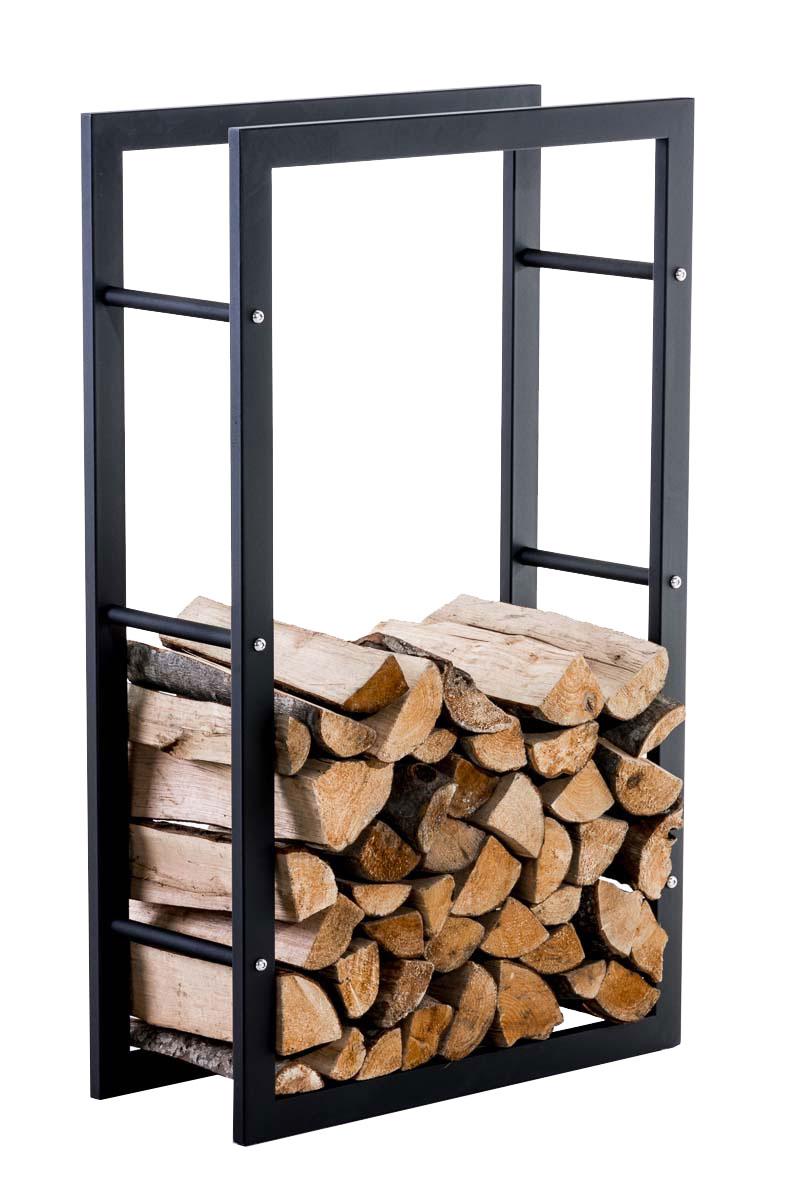 Stojan na dřevo Karin, 60x100 cm, černá