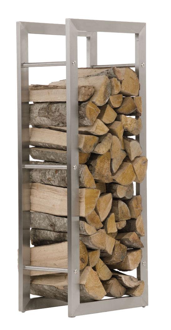 Stojan na dřevo Karin, 60x150 cm, nerez